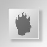 3D mohawk icon Business Concept Stock Image