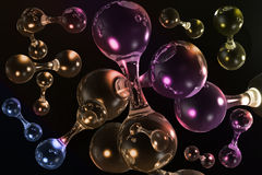 3D molecular background. 3D multicolored molecular background for web and print Stock Images