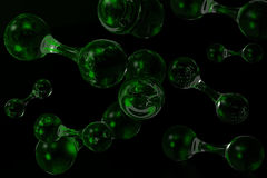 3D molecular background Stock Image