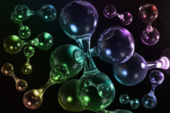 3D molecular background Royalty Free Stock Images