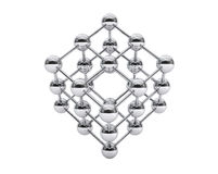 3d molecular structure as cube. On a white background Royalty Free Stock Images
