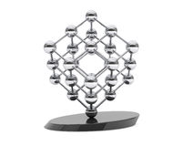 3d molecular structure as cube. On a white background Stock Photos