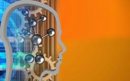 3d Molecule Royalty-vrije Stock Afbeelding