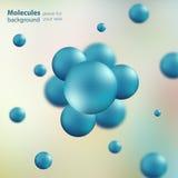 3d molecule model creatief ontwerp Royalty-vrije Illustratie