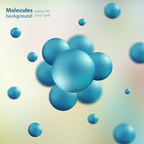 3d molecule model creative design.  Royalty Free Stock Images