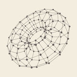 3D Molecule structure background. Graphic design Stock Images