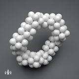 3D Molecule Structure. Futuristic Technology Style. 3D Vector Royalty Free Stock Images
