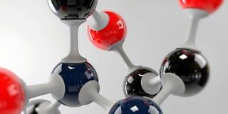 3d molekuła na popielatym tle Zdjęcie Royalty Free