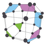 3D molekuły struktury tło projekt graficzny Obrazy Stock
