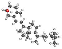 d molekuły witamina Zdjęcie Stock