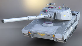 3d mondern tank  for the military. Generic tank illustration. Modern design.  Built to scale and accurate rendition Royalty Free Stock Image