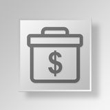 3D Money Briefcase icon Business Concept Royalty Free Stock Photo