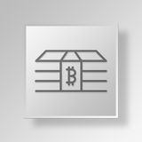 3D Money Button Icon Concept. 3D Symbol Gray Square Money Button Icon Concept Stock Images