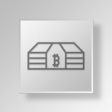 3D Money Button Icon Concept. 3D Symbol Gray Square Money Button Icon Concept Stock Photo