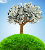 3D Money growing on trees Stock Images