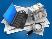 3d money Royalty Free Stock Images
