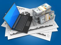 3d money Royalty Free Stock Photography