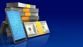 3d of money stack Royalty Free Stock Images