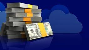 3d of money stack Stock Photo