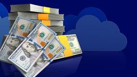3d of money stack Stock Images