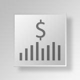 3D Money Strategy icon Business Concept Royalty Free Stock Photos