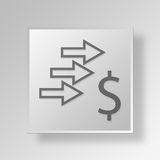3D Money Strategy icon Business Concept Royalty Free Stock Photo