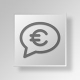 3D money talk icon Business Concept Royalty Free Stock Images
