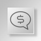 3D money talk icon Business Concept Royalty Free Stock Image