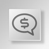 3D money talk icon Business Concept Royalty Free Stock Photos