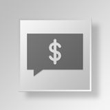 3D money talk icon Business Concept Stock Photography