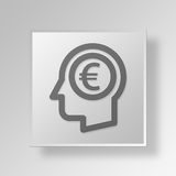 3D Money thoughts icon Business Concept Royalty Free Stock Photos