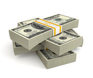 3d money - dollars. 3d money  on white background Stock Photos