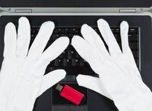 3d monitor komputerowa ilustracyjna ochrona Zdjęcie Royalty Free