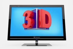 3d monitor, TV concept Royalty Free Stock Image