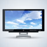 3d monitor vector illustration Royalty Free Stock Images
