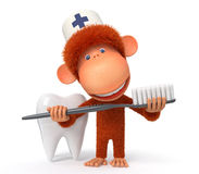 3d monkey doctor Royalty Free Stock Image
