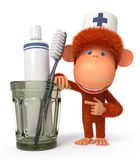 3d monkey doctor Royalty Free Stock Photo