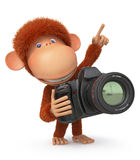 3d monkey photographer Royalty Free Stock Image
