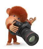3d monkey photographer Royalty Free Stock Photos