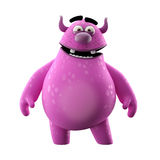 3D monster, merry monster isolated on white background. Funny symbol, 3D cartoon character monster royalty free illustration