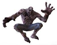 3D Monster van de Illustratiezombie Stock Afbeeldingen