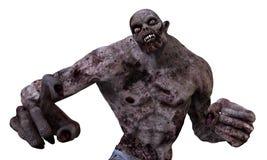 3D Monster van de Illustratiezombie Royalty-vrije Stock Afbeeldingen