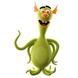 3D monstre drôle, addition drôle pour des sites Web, faisant de la publicité Image libre de droits