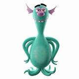3D monstre drôle, addition drôle pour des sites Web, faisant de la publicité Photo libre de droits