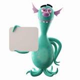 3D monstre drôle, addition drôle pour des sites Web, faisant de la publicité Images stock