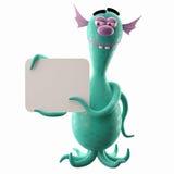 3D monstre drôle, addition drôle pour des sites Web, faisant de la publicité Images libres de droits