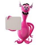 3D monstre drôle, addition drôle pour des sites Web, faisant de la publicité Photos stock