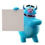 3D monstre marginal - caractère humoristique Images stock