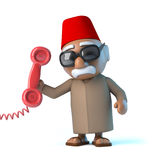 3d Moroccan answers the phone Stock Photos