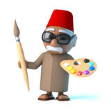 3d Moroccan is an artist Royalty Free Stock Photos